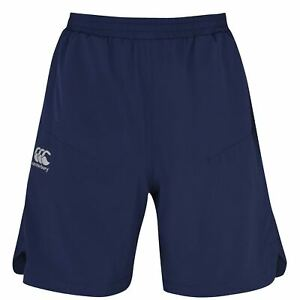 Canterbury Pantaloncini da Palestra in tessuto da uomo Gents Rugby Pants Pantaloni Bottoms leggero