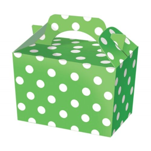 5 Spotty Food Boxes ~ Fun Picnic Lunch Box ~ Wedding Favour Baby Shower Party