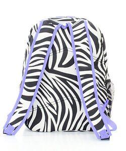 Zebra print Backpack, School Bag, Book Bag, Back Pack | eBay