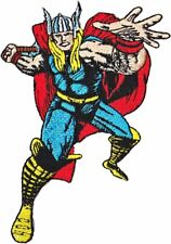 """Marvel Comics Thor/'s Mighty Hammer 4/"""" Tall Embroidered Patch W// GOLD FOIL"""