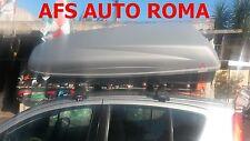 BOX AUTO PORTATUTTO BAULE KRONO 480+BARRE ALLUMINIO OPEL AGILA 2011 NO RAILS