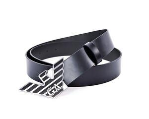 check-out 4479d ef7b5 Dettagli su Emporio Armani Y4S069 YAS2X Cintura Acc pelle Cintura da Uomo  Blu