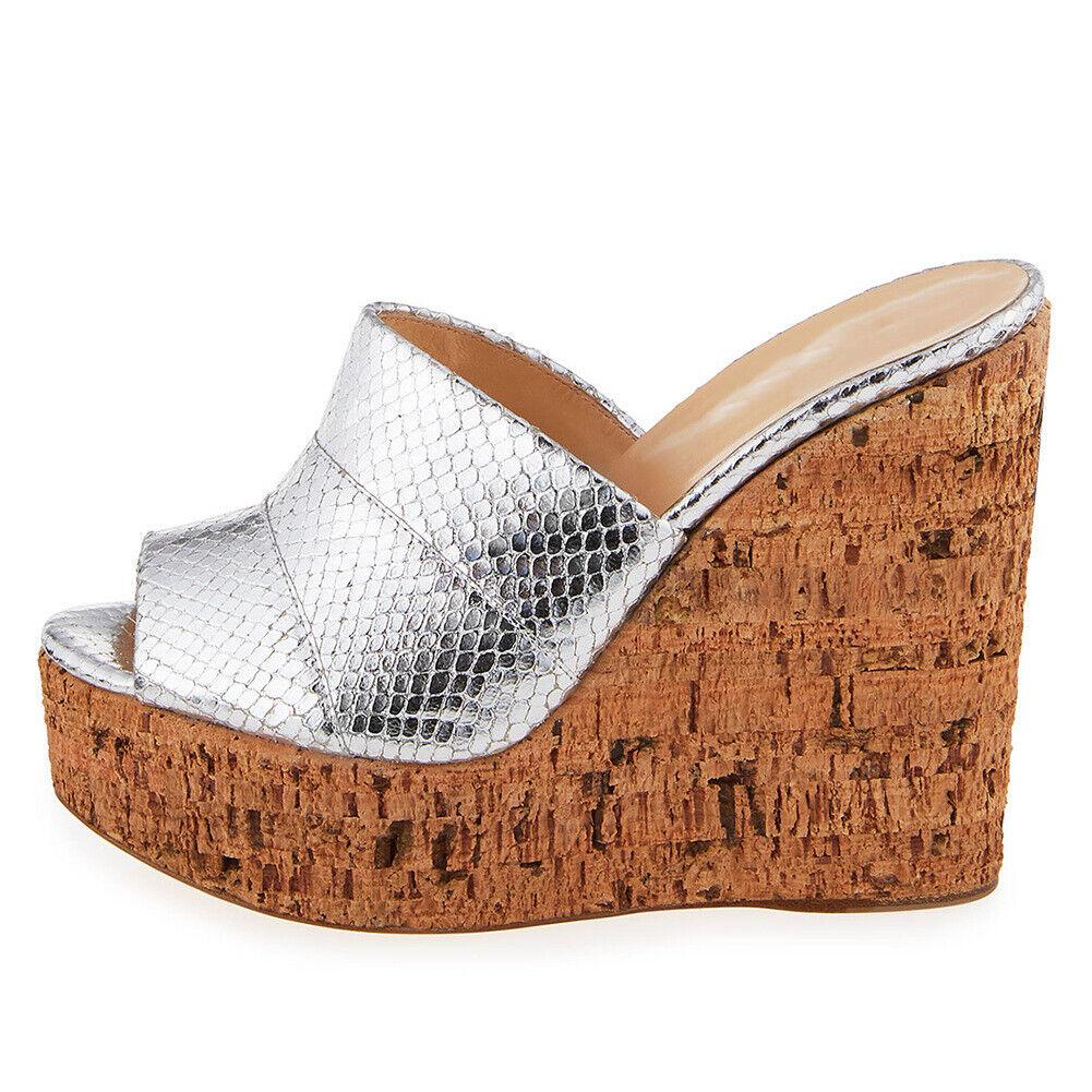 Peeptoe Platform Nightclub Ladys Sexy Sandals Slip On Slipper Pumps shoes Ladys