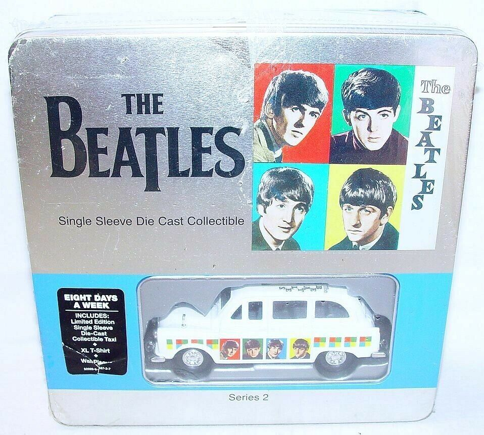 Factory 1 36 THE BEATLES  EIGHT DAYS A WEEK  LONDON TAXI + Single T-SHIRT MISB