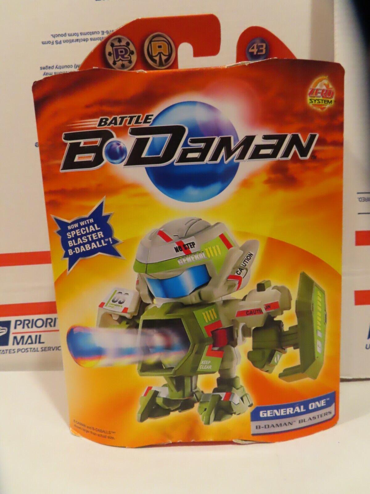 Battle B-daman B-daman B-daman GENERAL ONE blaster Mint in box Factory Green Card Sample 193e7f