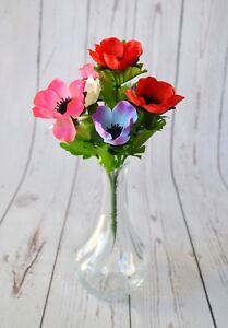 Artificial silk anemone bunch spring easter floral display vase ebay artificial silk anemone bunch spring easter floral display mightylinksfo