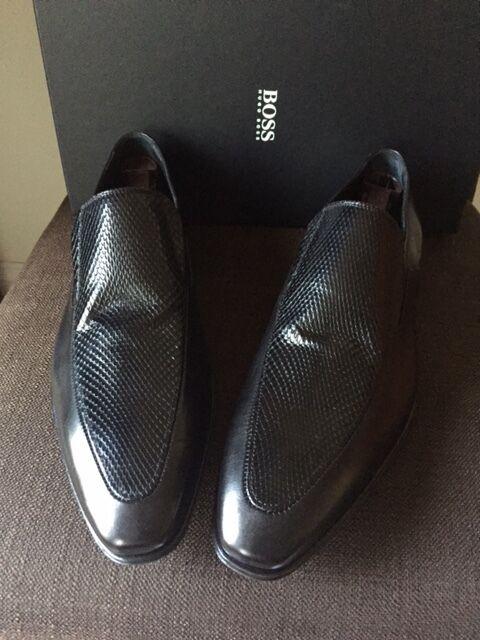 Hugo Boss Men's Fashion Loafer nero Leather scarpe - Perth-combi Sole 11.5