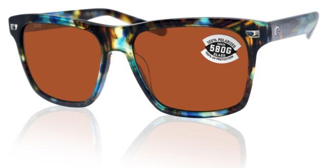 New Costa del Mar Aransas 580G Glass Polarized Sunglasses