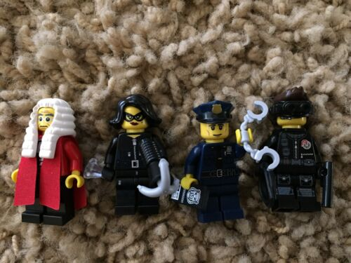 Lego 71000 Series 9 16 Minifigs  Lot Policeman Court Cop Officer Judge Spy CMF