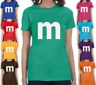 M candy T-shirt Halloween Costume cosplay chocolate group & family party Shirts