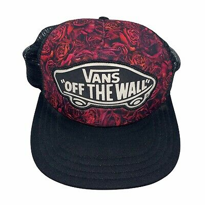 Vans Off The Wall Classic Patch mesh Trucker Hat Black Floral ...