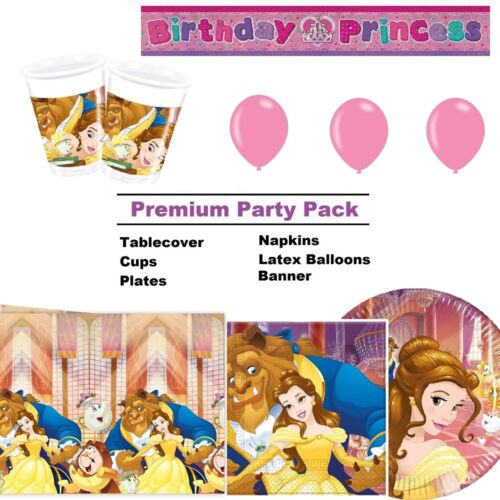 BEAUTY AND THE BEAST Party Tableware Disposable Birthday Supplies PROCOS