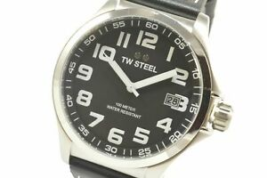 TW-Steel-TW408-Pilot-Black-Dial-Black-Leather-Watch