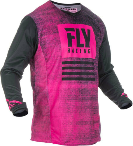Choose Size Neon Pink//Black Fly Racing MX Motocross Kinetic Noiz Jersey