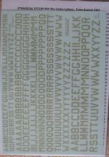 Xtradecal 1/72 X72189 RAF Squadron Code Letters in Sky colour.