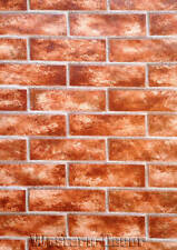"14"" Sample Red Brick Wallpaper  FREE SHIPPING!"