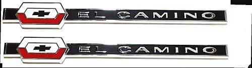 1964 64 El Camino Rear Quarter Panel Emblem Pair