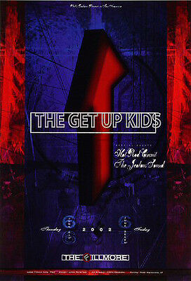 MINT THE GET UP KIDS FILLMORE CONCERT POSTER BGF524