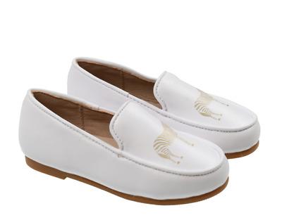 Zeebra All White Logo Loafers | eBay