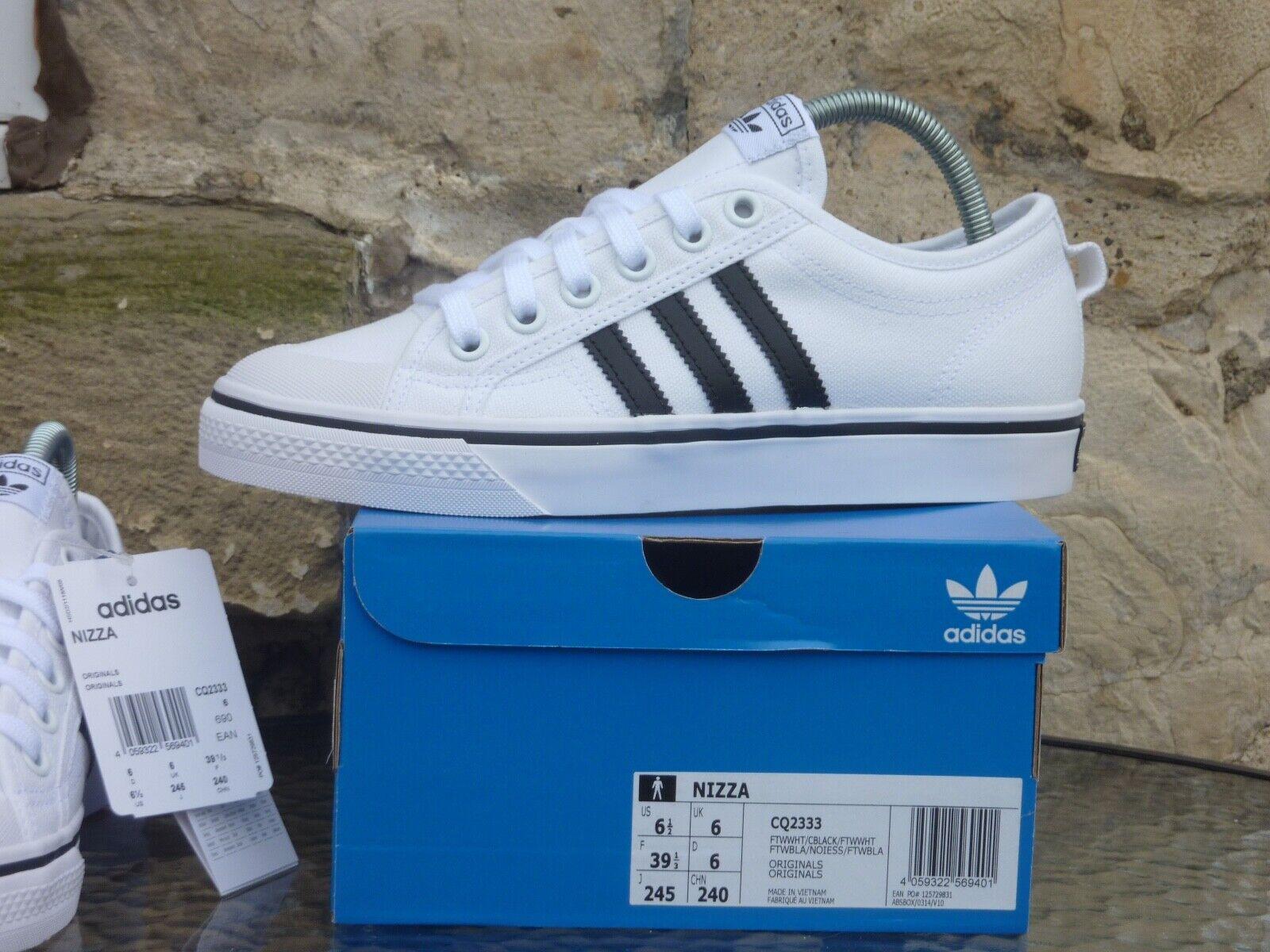 2020 Adidas Originals Nizza UK6 / US6.5 White Black BNIB OG New DS Pumps