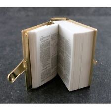 Printed Bible, Dolls House Miniature, Opens Small Text, Miniature Church