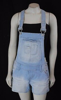 NWT Maurices Woman's Overall Denim Jeans Light wash Shorts Stretch SIZES 1-16