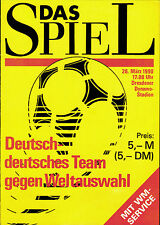 26.03.1990 Deutsch-deutsches Team - Weltauswahl in Dresden + WM 1990, MHO