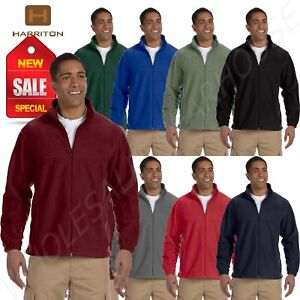 Harriton-Jacket-Men-039-s-8-oz-Full-Zip-Fleece-Solid-S-XL-R-M990