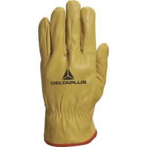 Delta-Plus-FBJA49-Cow-Hide-Leather-Work-Gloves-Fork-Lift-Truck-Machine-Builders
