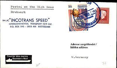 Briefmarken Beliebte Marke Schiffspost Schiff Incotrans Speed 1980 Mit Paquebot Brief Mit Panama Briefmarke Halten Sie Die Ganze Zeit Fit