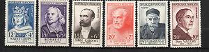 France-Yvert-989-994-CELEBRITES-DU-XIX-AU-XX-SIECLES-1954-NEUF-MNH