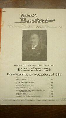 Altes Heft Hb Bastert Von 1935 ; 60 Seiten Oldtimer
