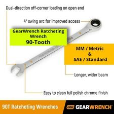Gearwrench Ratcheting Wrench 90 Tooth Metric Mm Sae Standard Ratchet Tool 90t