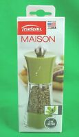 Trudeau Maison 5 Inch Green Herb Mill New/sealed