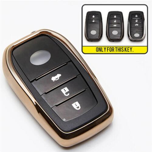 TPU Car Key Chain Cover Case For Toyota Camry Prius Corolla RAV4 Highlander Key