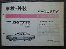 JDM TOYOTA CARINA ED T160 Series ST160 ST162 Original Genuine Parts List Catalog