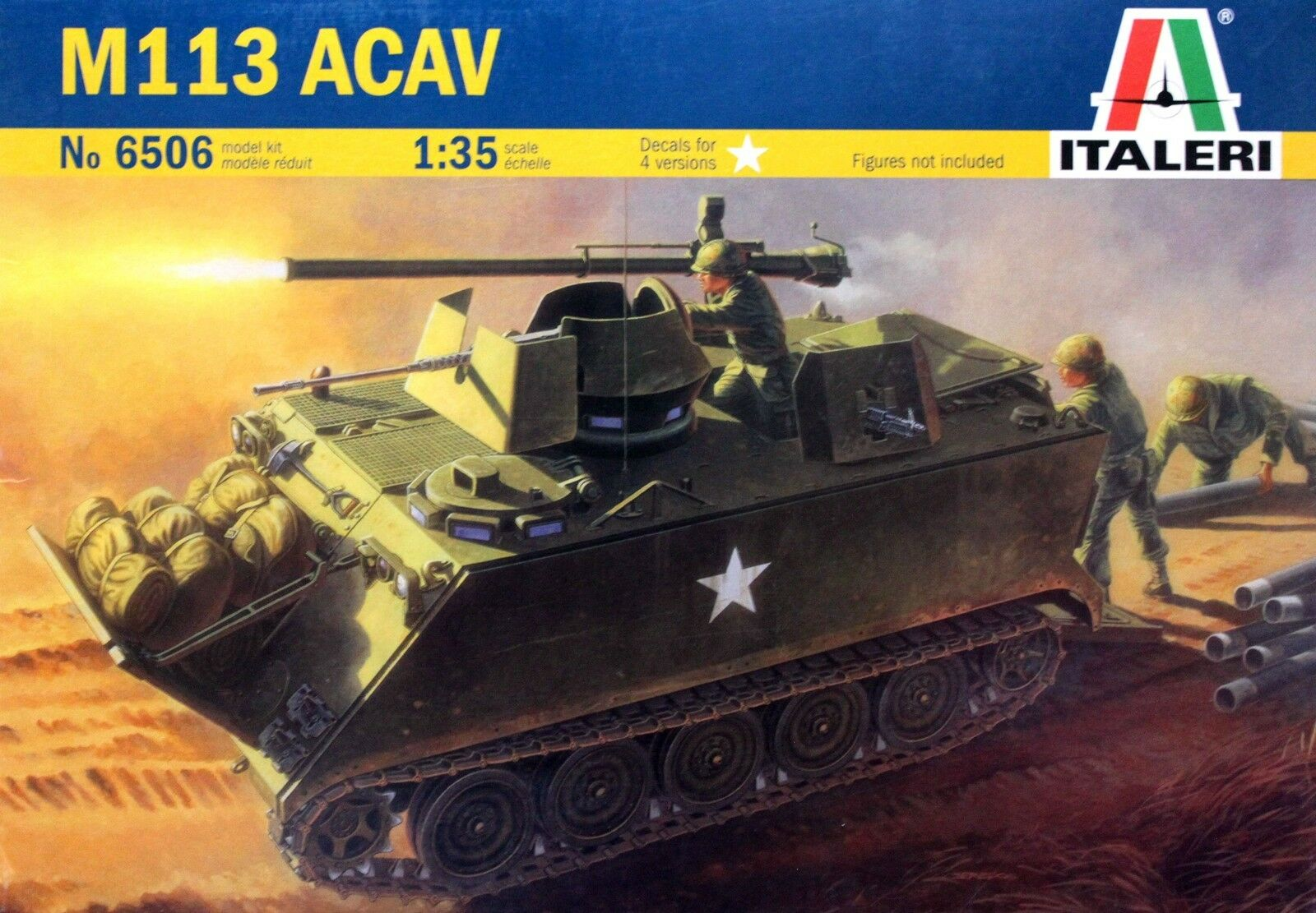 Italeri 1 35 6506 US M113 ACAV Armored Cavalry Assault Vehicle (Vietnam War)