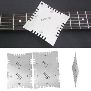 4pcs guitar notched radius gauges for measuring neck fret strings toothed radian 664168564431 ebay. Black Bedroom Furniture Sets. Home Design Ideas