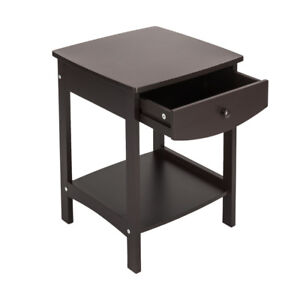 Details About Multipurpose End Side Table Home Furniture Wood Coffee Color