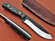 UNION KNIVES CUSTOM MADE 1095 HIGH CARBON STEEL HAMMERED KNIFE (MICARTA HANDLE)