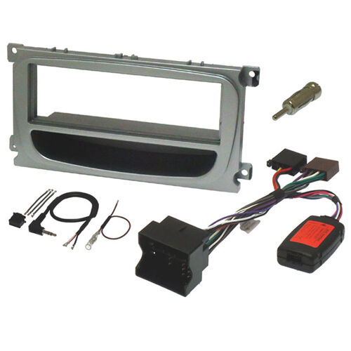 FK-316//1 FORD FOCUS MK2 2005 to 2011 SILVER 1 DIN FASCIA /& STALK CONTROL KIT