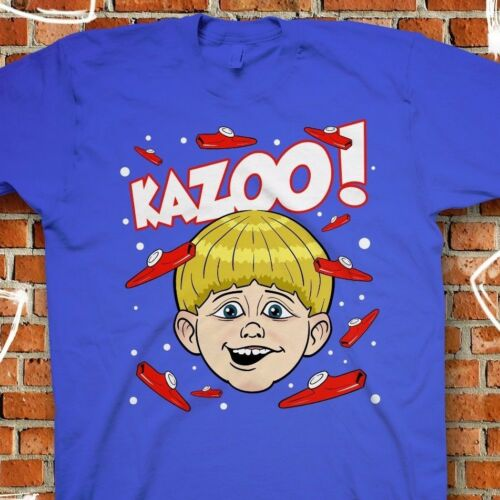 Funny Internet Blue T-Shirt Original Illustration Trap Remix Kazoo Kid Tee