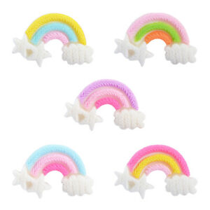 20-pcs-Resin-Rainbow-Craft-Flat-Back-Embellishments-Phone-Case-Decors-21x34mm