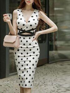 Caricamento dell immagine in corso Elegante-raffinato-vestito-abito-donna- tubino-bianco-nero- 7601878fdec