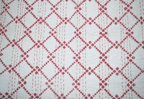 Hand Block Print Indian Cotton Kantha Quilt Bedding Bedspread Blanket Throw