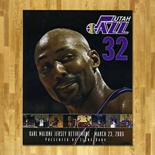 KARL MALONE Serial #'d RETIREMENT OF #32 JERSEY CAREER STAT CARD March 23, 2006