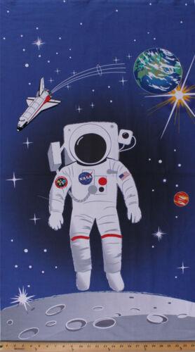 """24/"""" X Panel 44/"""" astronauta Tierra Luna Transbordador Espacial Niños Tela De Algodón D467.38"""