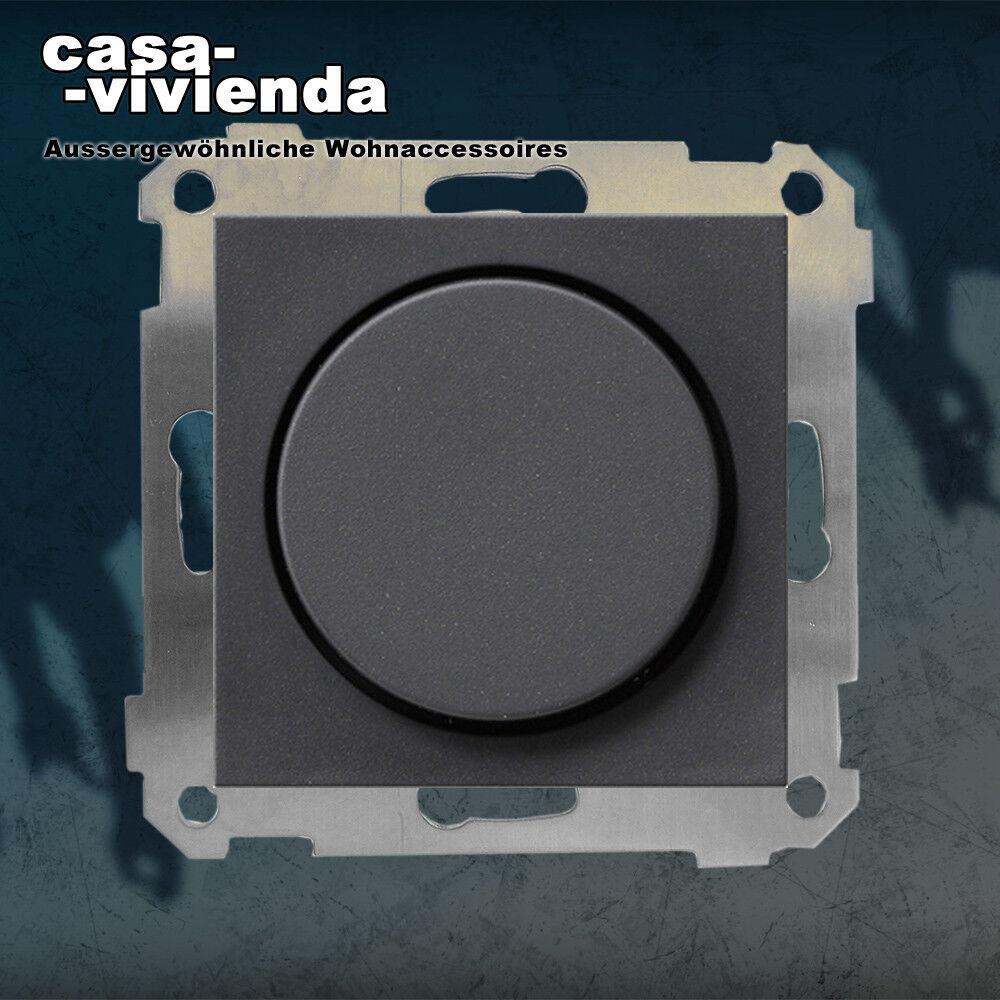 LED-Dimmer, 3-500W VA,  R,L,C  - passend für GIRA® System55 - Anthrazit