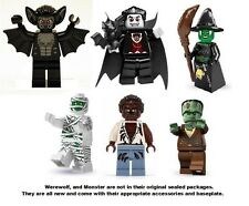 6x Lego Series 2 3 4 Vampire Witch Mummy Frankenstein Monster Werewolf Bat Fight
