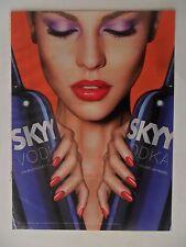 2011 Print Ad Skyy Vodka ~ Girl With Purple Eye Shadow